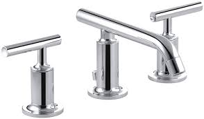 kohler purist kitchen faucet kohler k 14410 4 cp purist widespread lavatory faucet with low