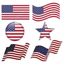 Design Of American Flag Set Of Usa Flag Designs U2014 Stock Vector Ryzhi 120633876