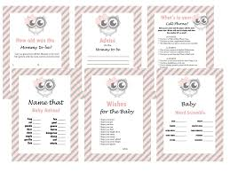 pink owl baby shower invitations cute pink owl baby shower game set baby shower activities pink