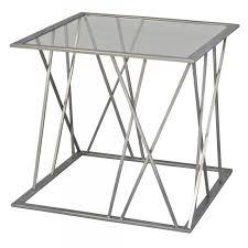table bout de canapé bout de canapé salomer gris verre un autre regard déco en ligne
