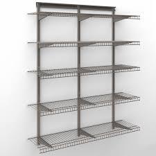 closetmaid shelftrack 4 ft wire shelf kit hayneedle