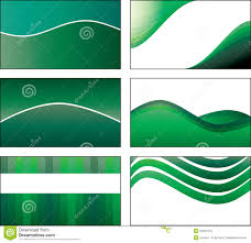 6 green business card template designs royalty free stock image