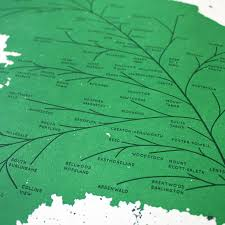 Portland Neighborhood Map Poster by City Leaf Maps Andrew Martis Letterer U0026 Designer