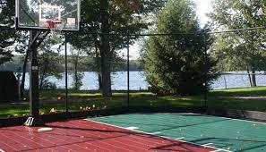 Backyard Basketball Hoops Backyard Basketball Courts Ma Sport Court New England