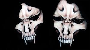 grim reaper makeup tutorial half skull 31 days of halloween