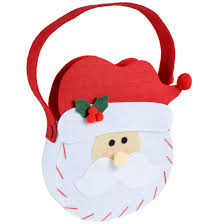 christmas santa claus head gift hand bag decoration