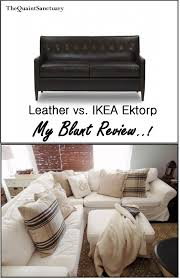 Ikea Sectional Sofa Review by The Quaint Sanctuary Leather Vs Ikea Ektorp Sectional Review