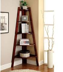 Corner Storage Shelves by Poundex Furniture Wood Corner Shelf 6 Tier 5 Storage Shelves Stand
