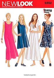 new look sewing pattern 6352 misses dresses size a 8