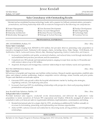 Sle Of A Resume Objective by Sales Consultant Resume Free Resume Exle And Writing