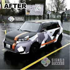 camo wrapped cars custom color change vehicle wrap scion xb signs for success