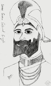 pencil sketch u2013 shri guru gobind singh ji desipainters com