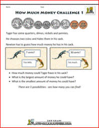 free money worksheets 2nd grade
