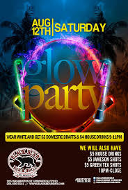 glow party glow party black hoboken happy hours