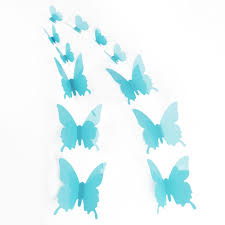 12pcs 3d butterfly sticker art design decal wall stickers home