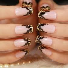 leopard print with black lace nail designs nails art