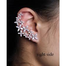 earring cuff right and left asymmetric design new arrival brand cubic zirconia