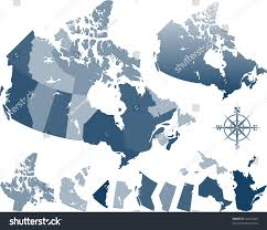 Canada Province Map by Map Canada Provinces Stock Vector 52257445 Shutterstock