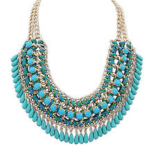 blue fashion necklace images Womens jewelry store jpg
