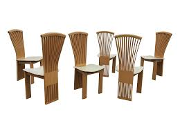 maple dining chairs pietro costantini maple dining chairs set of 6 chairish