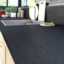 plan de travail cuisine noir paillet de travail cuisine noir paillet 12 avec stratifi effet m tal mat l