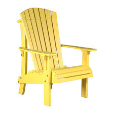 Yellow Plastic Adirondack Chair Senior Height Adirondack Chair Luxcraft Poly Furniture