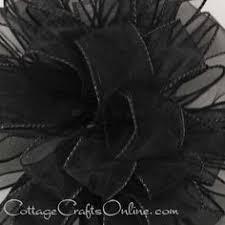 halloween wired ribbon 6 wide spider web by cottagecraftsonline