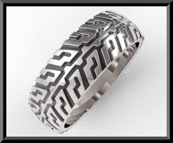 tire wedding ring unique tire tread s wedding band in sterling silver vidar