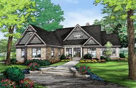 Craftsman Cabin House Plan Lake Cabin Plans With Walkout Basement Walkout