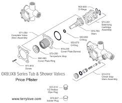 Bathroom Tub Faucet Parts Price Pfister Ox8 Shower Trim And Valve Terry Love Plumbing