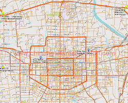 map of xi an map of xian hotels indicated on the map xian roads map