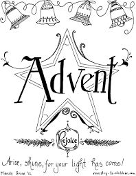 free advent coloring pages kids christmas printables