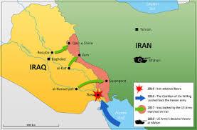 map iran iraq objectives of the iran iraq war 1980 88 ground view