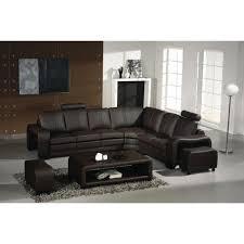 canape en cuir d angle canapé d angle en cuir marron avec têtières relax achat vente