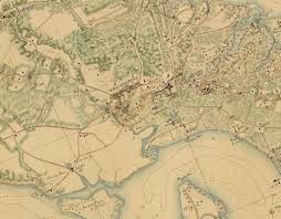 Map Of Williamsburg Virginia by A Major Manuscript Map Of The Southern Virginia Peninsula Rare