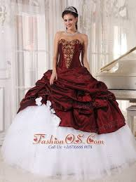 maroon quinceanera dresses burgundy and white quinceanera dress sweetheart taffeta and tulle