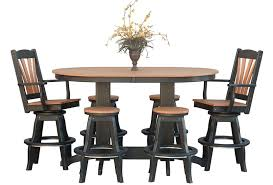 oval pub table set amish oval poly pub table from dutchcrafters amish furniture