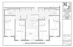 14 shared apartments floor plans for student housing fancy idea