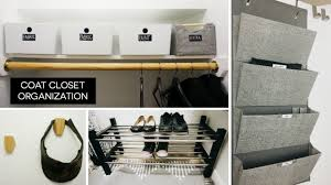 coat closet organization before after rescue my space youtube