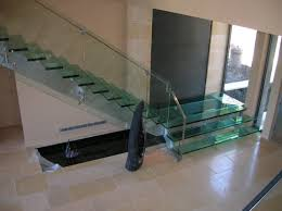 Modern Glass Stairs Design Popular Single Stainless Steel Handrail With Smart Banister Glass