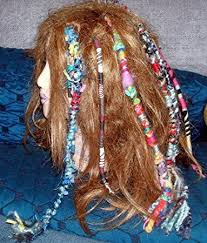 hippie hair wraps one fuzzy raggedy bright colors hippie hair wraps