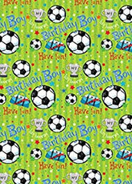 football wrapping paper football wrapping paper present gift wrap rolls 5m roll