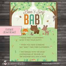 clothespin baby shower woodland baby shower don t say baby printable