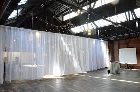 universal light and sound universal light and sound suspended white sheer curtain to