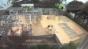 Frame House Light Gauge Steel Frame House Erection Youtube