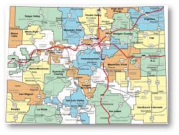 Map Colorado by Service Area Grand Valley Power
