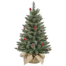 tabletop trees artificial decorated on sale