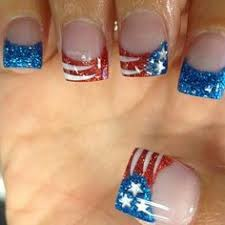 zolee nails utah 4th of july red white blue silver glitter