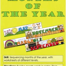 months of the year activity have fun teaching