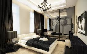 minimalist dark brown color matched black and white bedrooms with